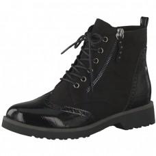 Marco Tozzi Black Combat Boots