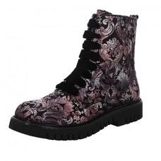 Marco Tozzi Black Combat Boots (Floral)