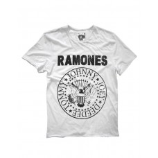 Amplified RAMONES LOGO Rock T-Shirt White