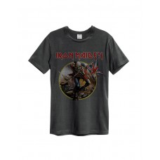 Amplified IRON MAIDEN TROOPER T-Shirt Charcoal