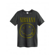 Amplified NIRVANA SMILEY Rock T-Shirt Charcoal