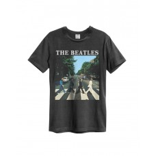 Amplified The Beatles Abbey Road Men's T-Shirt Charcoal
