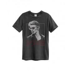 Amplified David Bowie 80 Era Men's T-Shirt Charcoal