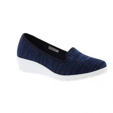 Heavenly Feet Casual Wedge Shoe Carnation (Navy)