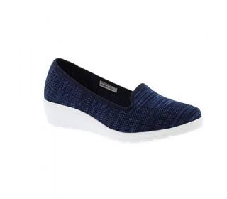 Heavenly Feet Casual Wedge Shoe Carnation (Navy)
