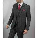 Cavani Men's Albert 3 Piece Suit Grey