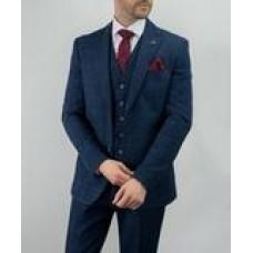 Cavani Men's Carnegi Three Piece Suit Navy