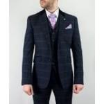 Cavani Men's Connall Navy Three Piece Suit