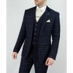 Cavani Men's Shelby Three Piece Suit Navy