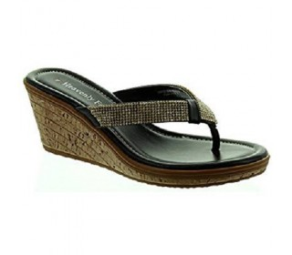 Heavenly Feet Esther2 Sandals (Black)