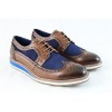 2b714699123 Front Berkeley Tan Blue Leather Brogue