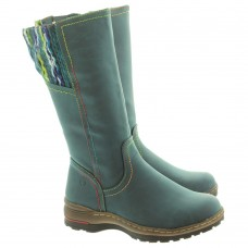Heavenly Feet ladies calf length boots Leah ocean