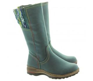 Heavenly Feet ladies calf length boots Leah ocean