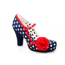 NEW Ruby Shoo Hannah (Navy Spots)