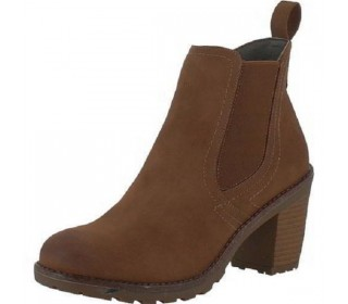Heavenly Feet Jessie Heeled Ankle Boot (Chestut)