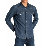 Lee Mens Long Sleeved Slimfit Shirt Blueprint