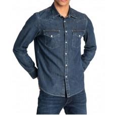 Lee Mens Long Sleeved Slimfit Shirt Blueprint