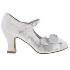 NEW Ruby Shoo Madelaine (White/Silver)