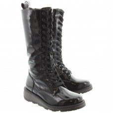Heavenly Feet Maze (Black Patent) Boots