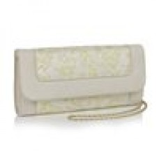 Ruby Shoo Charleston Clutch Bag Cream/Lemon
