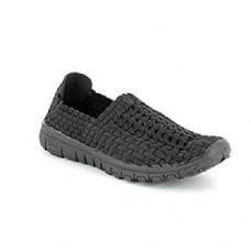 Heavenly Feet Stomp Woven Lightweight Shoe (Black)