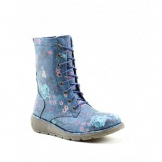 Heavenly Feet Walker2 (Navy Floral) Lace Up Ankle Boot