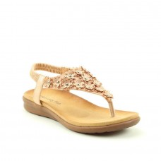 Heavenly Feet Anna Ladies Slip On Sandals ( Rose Gold)