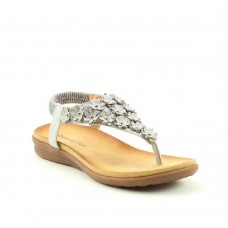 Heavenly Feet Anna Ladies Slip On Sandals ( Silver)