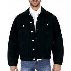 Aztec Mens Denim Jacket Black