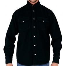 Aztec Mens Denim Shirt Black