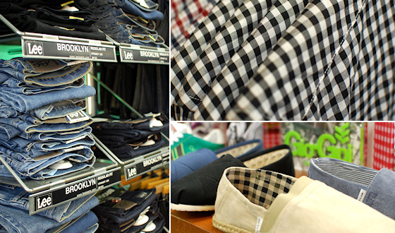 Mens jeans and checks