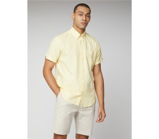 Ben Sherman Oxford Short Sleeve Shirt Yellow
