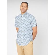 Ben Sherman Short Sleeve Shirt Riviera Blue