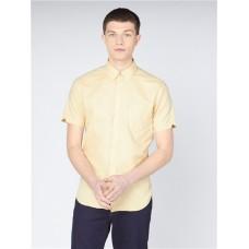 Ben Sherman Short Sleeve Shirt Organic Pale Yellow