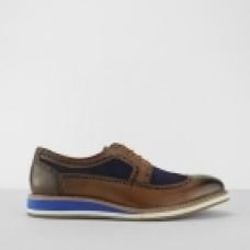 Front Berkeley Tan/Blue Leather Brogue