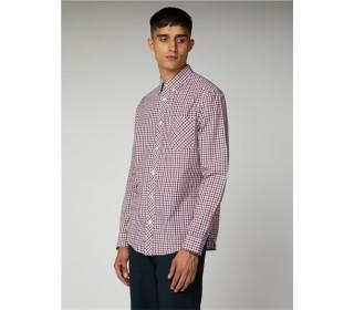 Ben Sherman Long Sleeve  Housecheck  Oxford Shirt Blue Depths