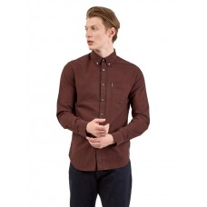 Ben Sherman Long Sleeved Oxford Shirt Bordeaux