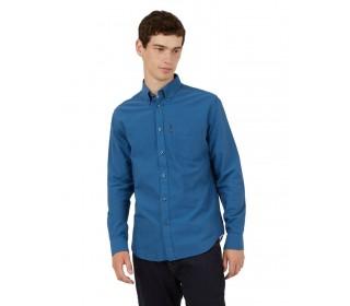 Ben Sherman Long Sleeved Oxford Shirt Persian Blue