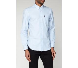 Ben Sherman Long Sleeved Oxford Shirt Sky Blue