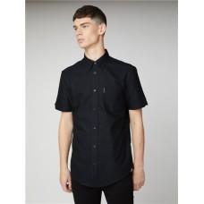 Ben Sherman Short Sleeved Oxford Shirt True Black