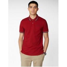 Ben Sherman Short Sleeved Polo Shirt 550 Red Men's