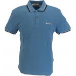 Ben Sherman Short Sleeved Polo Shirt 145 Riviera Blue Men's