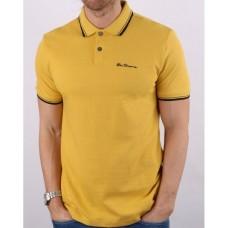 Ben Sherman Short Sleeved Polo Shirt 450 Yellow Men's