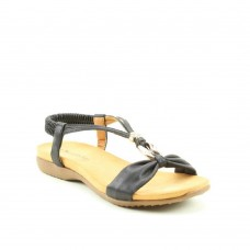 Heavenly Feet Women's Campari Black Sandals