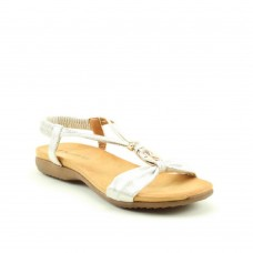Heavenly Feet Women's Campari White/Silver Sandals