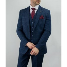Cavani Men's Carnegi Three Piece Suit Navy