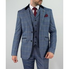 Cavani Men's Connall Navy Three Piece Suit