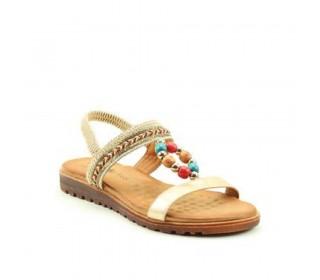 Heavenly Feet  Ladies premium slip on sandal, style Constance.( Gold)