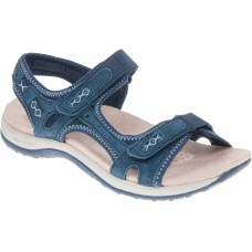 Earth Spirit ladies leather sandals Frisco navy