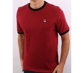 Fila Marconi Essential Ringer T-Shirt Rhubarb/Black